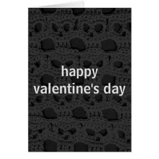 Grinning Skulls Valentine's Day Card