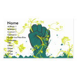 gripping nature vector business card template