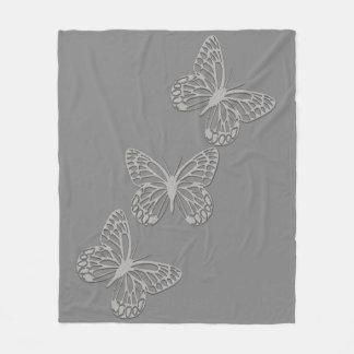Gris argenté confortable de papillon couverture polaire