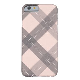 gris de charbon de bois et cas rose de l'iPhone 6  Coque Barely There iPhone 6