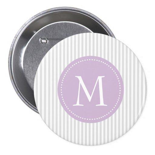 Gris et blanc barre le monogramme fait sur command pin's