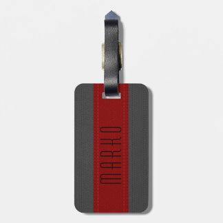 Gris et rouge barre le Faux 2 simili cuir vintages