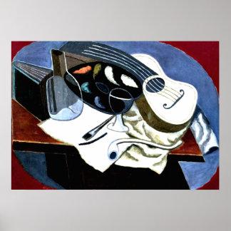 Gris - Painter's Table; Juan Gris painting Poster