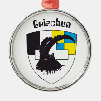 Grischun Svizra ornamentation Metal Ornament