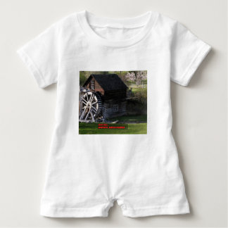 Grist Mill, Keremeos, BC, Canada Baby Romper