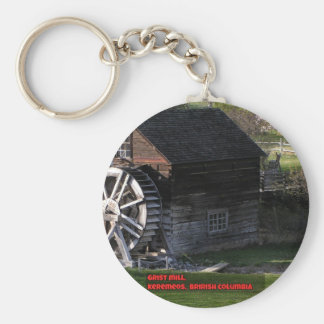 Grist Mill, Keremeos, BC, Canada Basic Round Button Keychain