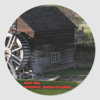 Grist Mill, Keremeos, BC, Canada Classic Round Sticker