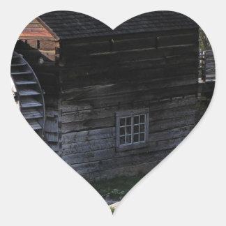 Grist Mill, Keremeos, BC, Canada Heart Sticker