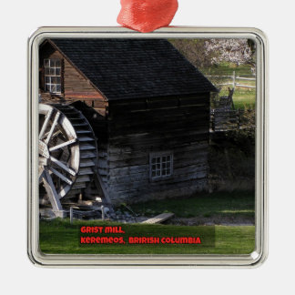 Grist Mill, Keremeos, BC, Canada Metal Ornament