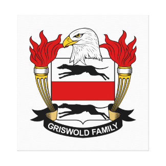 Griswold Family Crest Stretched Canvas Prints