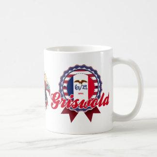 Griswold, IA Basic White Mug