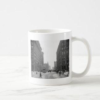 Griswold Street, Detroit: 1906 Basic White Mug