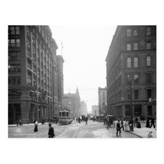 Griswold Street, Detroit: 1906 Postcard
