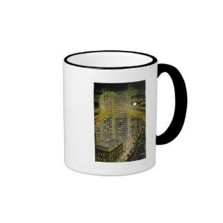 Griswold Street Detroit, Detroit Michigan Vintage Ringer Coffee Mug