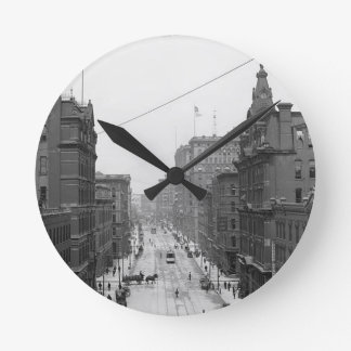 Griswold Street, Detroit, Mich. 1906 Wall Clock