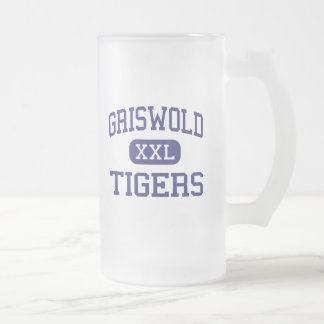 Griswold - Tigers - High School - Griswold Iowa Frosted Glass Mug