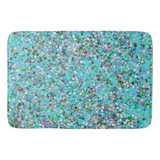 Grit Glitter Fashion Multicolor Painting #10 Bath Mat