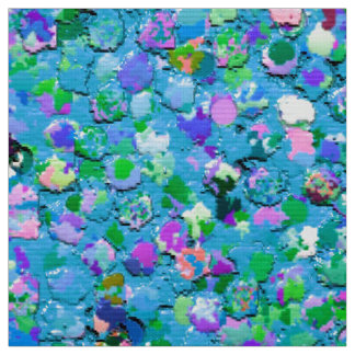 Grit Glitter Fashion Multicolor Painting #2 Fabric