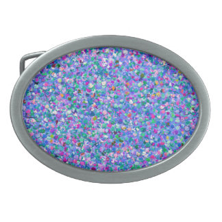 Grit Glitter Fashion Multicolor Painting #3 Oval Belt Buckles