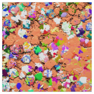 Grit Glitter Fashion Multicolor Painting #5 Fabric