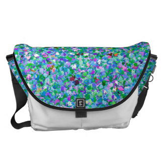 Grit Glitter Fashion Multicolor Painting #5 Messenger Bag