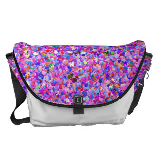 Grit Glitter Fashion Multicolor Painting #6 Messenger Bags