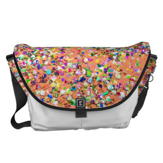 Grit Glitter Fashion Multicolor Painting #8 Courier Bag