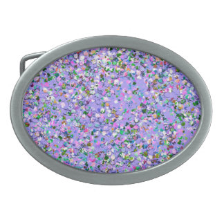 Grit Glitter Fashion Multicolor Painting #8 Oval Belt Buckles