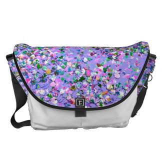 Grit Glitter Fashion Multicolor Painting #9 Courier Bag