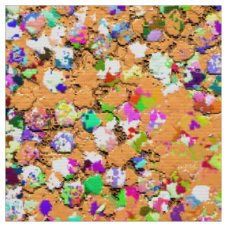 Grit Glitter Fashion Multicolor Painting #9 Fabric