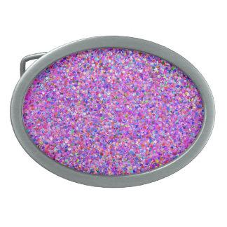 Grit Glitter Fashion Multicolor Painting Belt Buckles