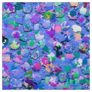 Grit Glitter Fashion Multicolor Painting Fabric