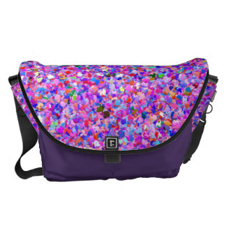 Grit Glitter Fashion Multicolor Painting Messenger Bags