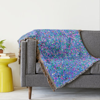 Grit Glitter Fashion Multicolor Painting Throw Blanket