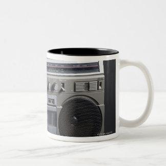 Gritty Boom Box Two-Tone Coffee Mug