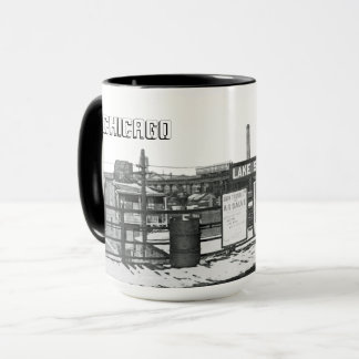 GRITTY CHICAGO LAKE STREET SUBWAY PLATFORM 1950'S MUG