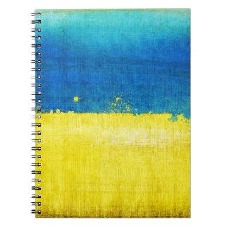 Gritty Ukraine Flag Notebook