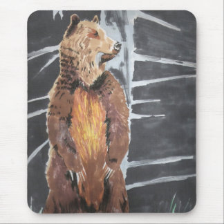 Grizly Bear Mouse Pad