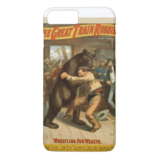 Grizzley bear fight iPhone 7 plus case