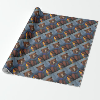 Grizzley Bear Wrapping Paper