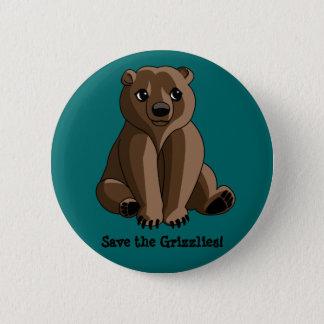 Grizzlies 2 Inch Round Button