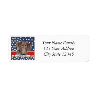Grizzly4President, In Dog We Trust Return Address Label