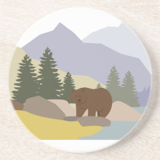Grizzly Alaska Beverage Coaster