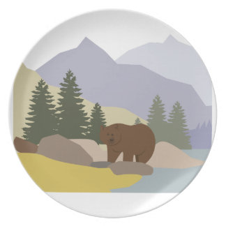 Grizzly Alaska Party Plate