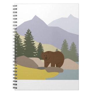 Grizzly Alaska Spiral Notebook