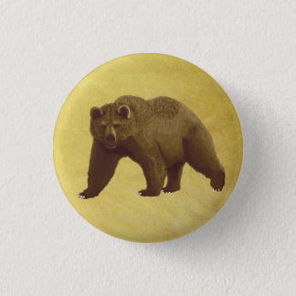 Grizzly Bear 1 Inch Round Button