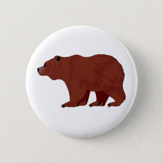 Grizzly Bear 2 Inch Round Button
