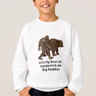 Grizzly Bear and Sasquatch are Big Buddies T-shirt