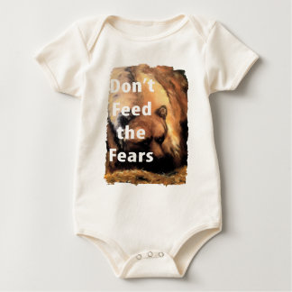 Grizzly Bear Art Don't Feed the Fears Baby Bodysuit