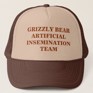 GRIZZLY BEAR ARTIFICIAL INSEMINATION TEAM TRUCKER HAT